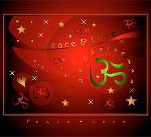 OM XMAS RED by jewd barclay