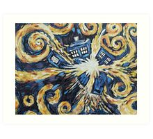Doctor Who - Wibbly Wobbly Art Print