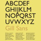 Gill Sans by millytant