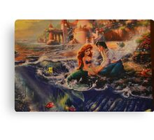 Disney Little Mermaid Princess Ariel Prince Eric  Canvas Print