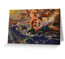 Disney Little Mermaid Princess Ariel Prince Eric  Greeting Card