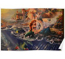 Disney Little Mermaid Princess Ariel Prince Eric  Poster
