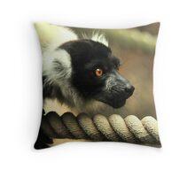Prowling Lemur Throw Pillow
