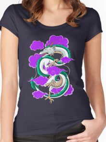 Haku Clouds Women's Fitted Scoop T-Shirt