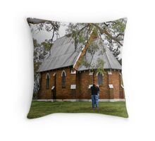 Old church at forest reefs in nswales Throw Pillow