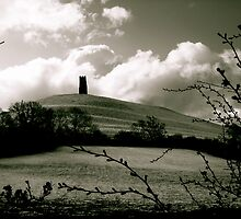 Side view of Glastonbury Tor by Amanda Gazidis