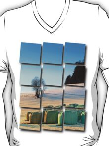 Hay bales in winter wonderland | landscape photography T-Shirt