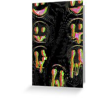 Trippy Face Greeting Card