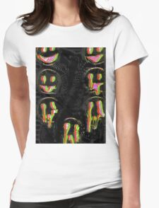 Trippy Face Womens Fitted T-Shirt