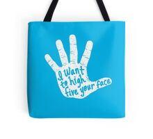 Hand to Face Tote Bag