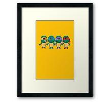 Childish Mutant Ninja Turtles Framed Print