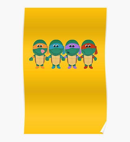 Childish Mutant Ninja Turtles Poster