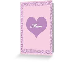 Mum Lilac Heart Greeting Card