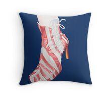 Candy Stripe Shoe Throw Pillow
