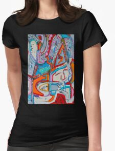 The Face of a Clown Womens Fitted T-Shirt