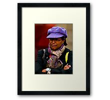 What you saying girl Framed Print