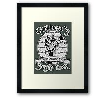 Gollum's Sushi Bar - Fresh Precious Fish Framed Print