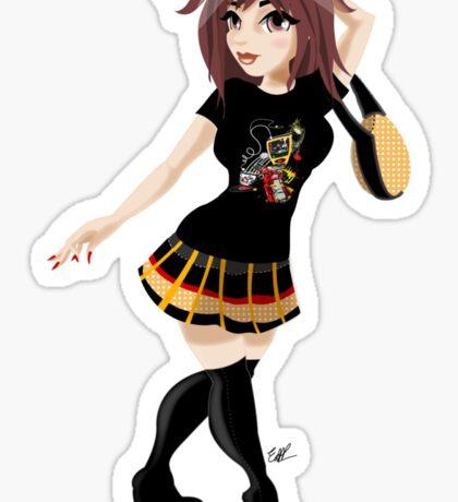 Girl Wearing My London T Sticker