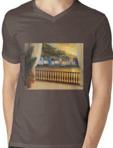 ITALIAN VIEW Mens V-Neck T-Shirt