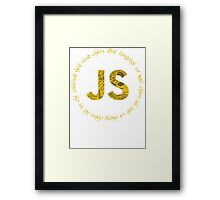 JavaScript - One language to rule them all Framed Print
