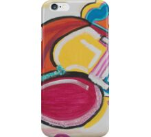A Large Swirl with a Blue Smile iPhone Case/Skin