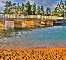 Bridging the Gap  # 3  In Wide Screen - Narrabeen Lakes - The HDR Series by Philip Johnson
