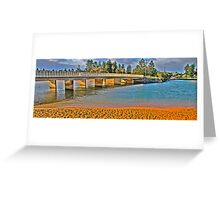 Bridging the Gap  # 3  In Wide Screen - Narrabeen Lakes - The HDR Series Greeting Card