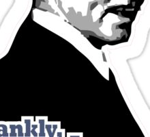 Frankly, my dear, I don't give a damn! Sticker