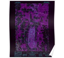 Maine USGS Historical Map Mars Hill 808060 1984 24000 Inversion Poster