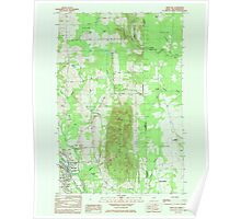 Maine USGS Historical Map Mars Hill 808060 1984 24000 Poster