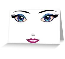 Woman's Face 2 Greeting Card