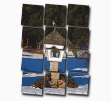 Wayside shrine in winter scenery | architectural photography Kids Clothes