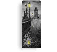 BW Prague Charles Bridge 01 Canvas Print
