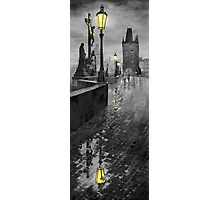 BW Prague Charles Bridge 01 Photographic Print