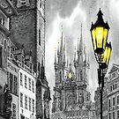 BW Prague Old Town Squere by Yuriy Shevchuk