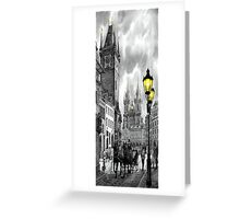 BW Prague Old Town Squere Greeting Card