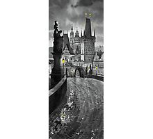 BW Prague Charles Bridge 03 Photographic Print
