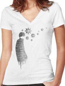 Winter..... Women's Fitted V-Neck T-Shirt