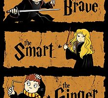 The Brave, the Smart, the Ginger by Ikado Art