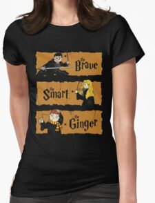 The Brave, the Smart, the Ginger Womens Fitted T-Shirt