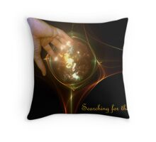 Searching for the light Throw Pillow