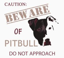 caution - beware of pitbull do not approach Kids Clothes