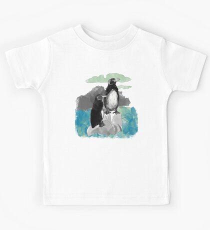 Penguins Watercolored Kids Tee