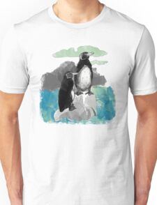 Penguins Watercolored Unisex T-Shirt