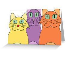 3 Cats Greeting Card