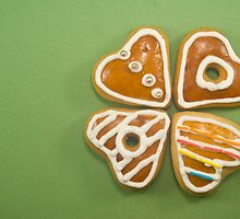 Heart shaped gingerbread cookies by Tim Scott