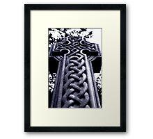 Celtic gravestone Framed Print