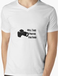 Will Take Photos For Food Mens V-Neck T-Shirt