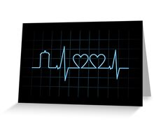 Two Heartbeats Greeting Card
