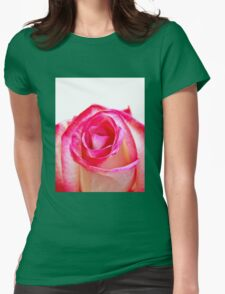 Pink White rose 4 Womens Fitted T-Shirt